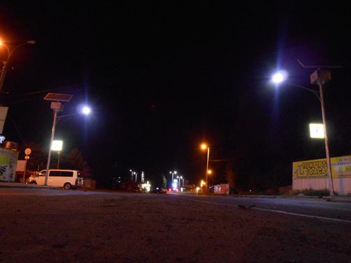 הסתיימה התקנת התאורה בכביש הראשי המוביל מאומן לקייב ואודסה