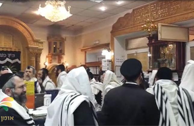 הרב מוטה פראנק והחברים בשירה וריקודים בציון רבינו באומן