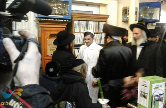 חתונה בציון רבינו באומן התקיימה בציון חופתו של ישראל לוי