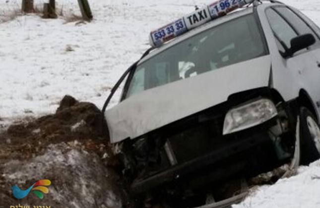 גביר חסיד ברסלב שהיה בדרכו לאומן נפצע בתאונת דרכים ויצא ללא פגע.