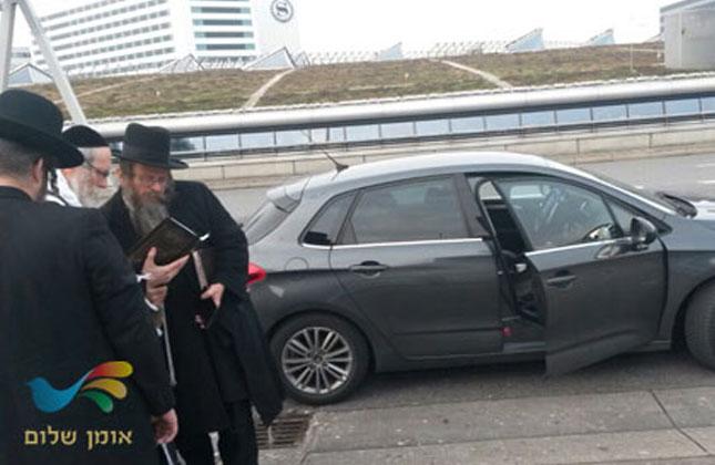ר' משה ביננשטוק בביקור אצל הרב ברלנד בהולנד