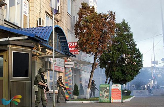 כוחות הביטחון האוקראינים ערכו תרגיל ביטחוני בשגרירות הישראלית בקייב
