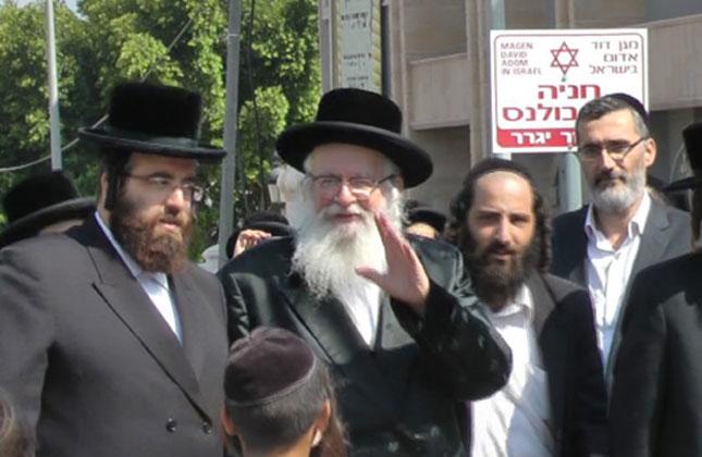 """הרב שיק שליט""""א הגיע לביקור בארץ ישראל"""