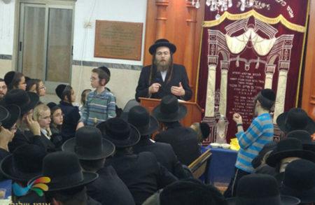 """כינוס הכנה רבתי בברסלב צפת התקיים בבית הכנסת  """"פאר הנצח"""""""