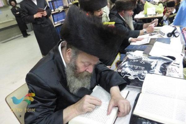 """קריאת המגילה בבית הכנסת ברסלב """"נחלת חן"""" בבית שמש"""