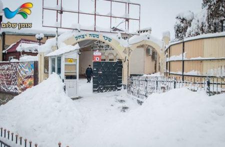 גלרייה לבנה מאומן • בשבוע האחרון החל לרדת באומן שלג כבד