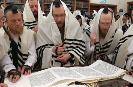 """הָעֹמְדִים בְּבֵית ה' בַּלֵּילוֹת • פורים בביהמ""""ד 'כולל חצות ארץ ישראל'"""