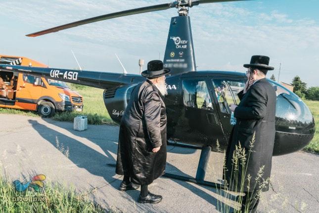 """בסיוע מסוק וסוכן חרוץ: פחות מ-24 שעות למסע הקודש של האדמו""""ר מספינקא לאומן"""