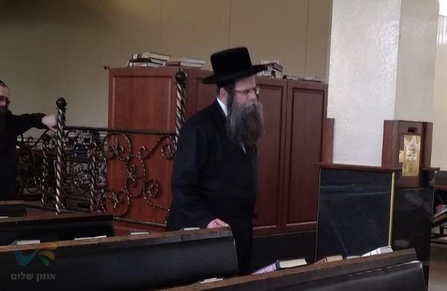 """כ""""ק האדמו""""ר מלעלוב שליט""""א הגיע לשאת תפילה בציון רבינו הק' באומן"""