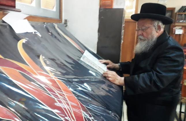 חבר הכנסת הרב מנחם אליעזר מוזס הגיע לשאת תפילה בציון רבינו הק' באומן