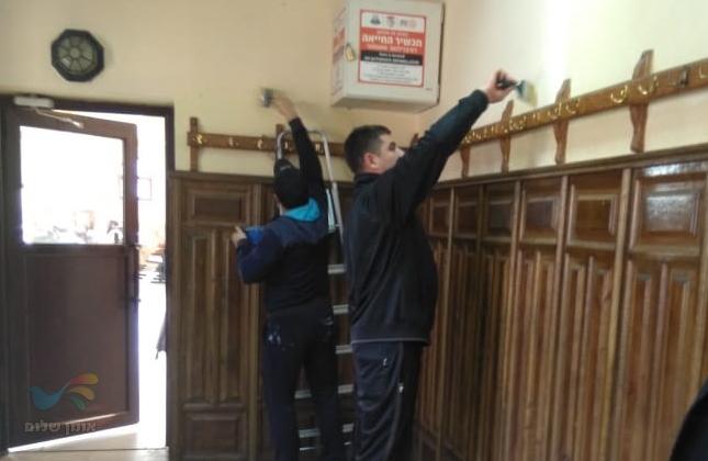 הסתיימו עבודות הצביעה והשיפוץ באולם הכניסה להיכל ציון רבינו הקדוש באומן