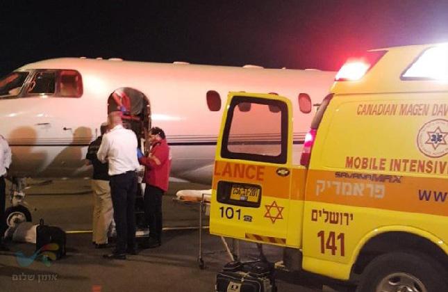 הרב ישראל פינטו נחת בישראל במטוס פרטי כשהוא במצב קשה אך יציב