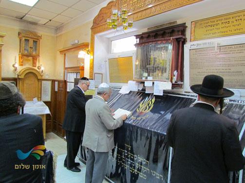 שגריר ישראל בקייב הגיע לביקור באומן – רבינו מקבל את כולם בברכה