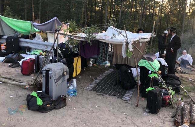 היום השלישי של חסידי ברסלב בגבול בלארוס-אוקראינה ועדיין לא אפסה תקוה